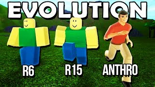 NEW CHARACTER EVOLUTION IN ROBLOX! (Anthro)