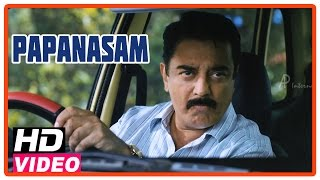 Papanasam Tamil Movie | Scenes | Kamal Haasan disposes Roshan's car | Gautami