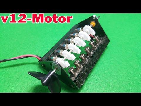 How to make Powerful Mini V12 Coreless Motor