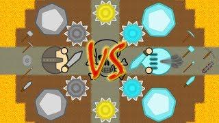 Doomed.io - Full Stone vs Full Diamond - Stone Gear Only Challenge (250K Goal)