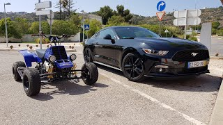 Ford Mustang & Yamaha Banshee 350 Top Speed GoPro Onboard