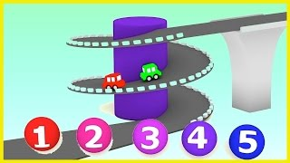 CAR CONVEYOR Challenge! - Car Cartoons for kids. Cartoon Cars.Learn Numbers.Children