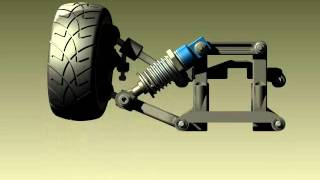 3D CAD Animation - Front Suspension
