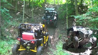 Extreme Side by Side Trail Riding Action - Polaris RZR