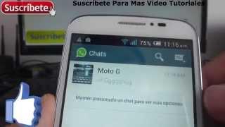 Alcatel Onetouch Pop C7 como agregar contactos a whatsapp Español