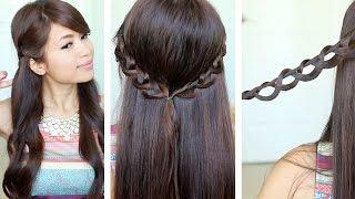 Chain Braid Headband Hairstyle for Medium Long Hair Tutorial