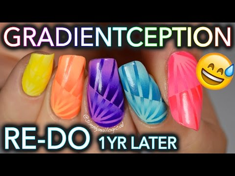 Most complicated gradient nails ever OLD TUTORIAL RE DO