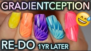 Most complicated gradient nails ever: OLD TUTORIAL RE-DO