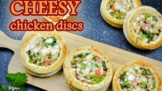 ঝটপট তৈরী পাউরুটির নাস্তা  | Chicken Cheesy Discs | চিকেন ব্রেড | Easy Bread Snacks Bangla Recipe