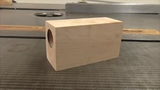 Making a wooden air engine - part 1 of 10 - Cylinder block