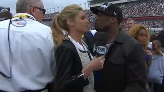 50 Cent awkward kiss with Erin Andrews