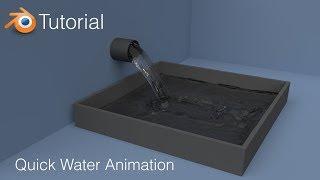 Blender Tutorial: Quick Water Animation