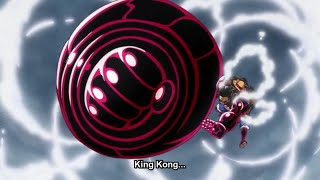 Luffy vs Doflamingo FINAL! KING KONG GUN! HD