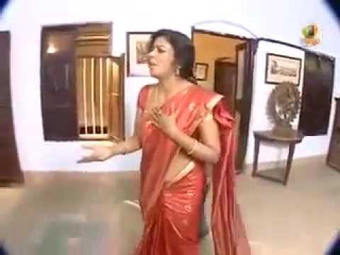 Telugu Aunty Navel Slips in TV Serial