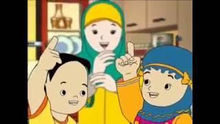 kartun anak islami muslim indonesia Aku Bisa Makan Sendiri