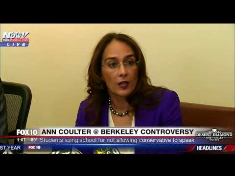 FULL PRESS CONFERENCE Berkeley Young Republicans SUE School Over Ann Coulter Speech Controversy FNN