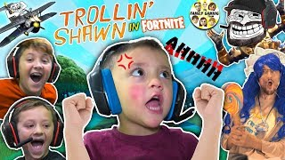 3 YEAR OLD SHAWN, MASTER of FORTNITE! (FGTEEV Trollin