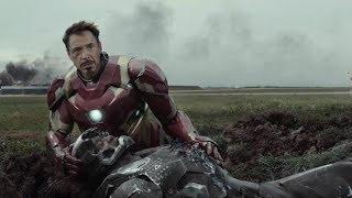 Vision kills War Machine and then Iron Man kills Falcon (Turn subtitles on)