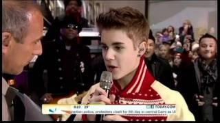 Justin Bieber Today Show Part 1 November 23