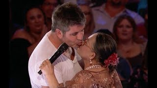 73 Y O Lady Brings Love and Gets A KISS From Simon| Week 3 | America