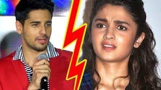 Sidharth Malhotra REACTS On Break Up With Alia Bhatt
