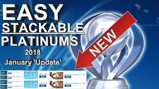 Easy & Fast Stackable Platinum Games 2018 - PS4 & Vita January *Update*