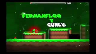 El rap de FERNANFLOO En su nivel | Geometry Dash | CratsPlay
