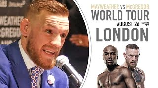 """Conor McGregor """"THE LITTLE B*STED LOOKS ALRIGHT AT 40"""" vs Floyd Mayweather 