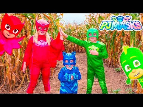 Xxx Mp4 PJ MASKS Assistant Owlette And Gekko Batboy LOST In A Corn Maze Adventure Video 3gp Sex