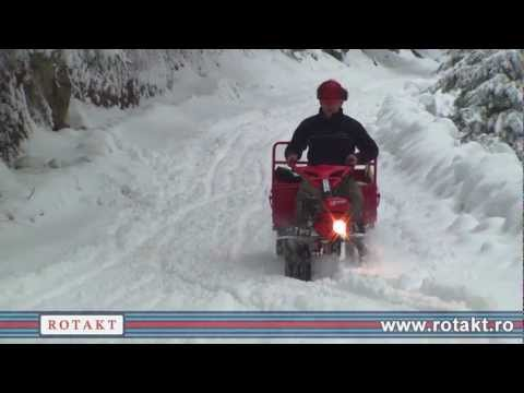 Motocultor benzina Rotakt ROG90 cu remorca la munte v2