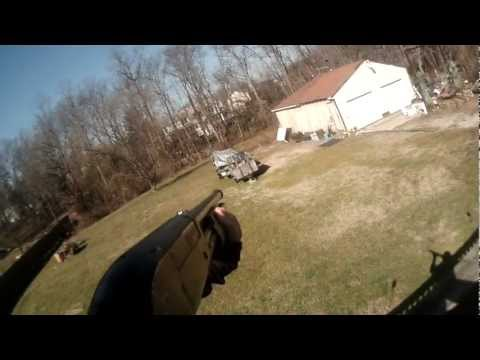 DE triple shot shotgun Airsoft test fire
