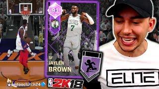 AMETHYST JAYLEN BROWN IS MR 4TH QUARTER! COMPLETELY TAKES OVER! NBA 2K18 MyTeam