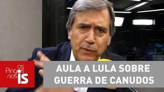 Marco Antonio Villa dá aula a Lula sobre Guerra de Canudos
