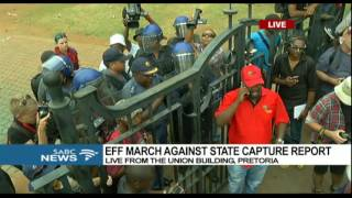 EFF marches at the gates of Union Building: Chriselda Lewis reports