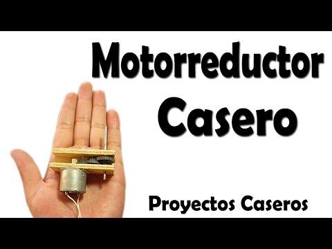 Como Hacer Un Motorreductor Casero muy fácil de hacer
