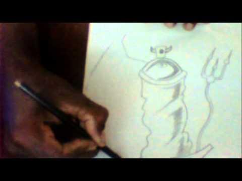 desenhando uma lata de jet