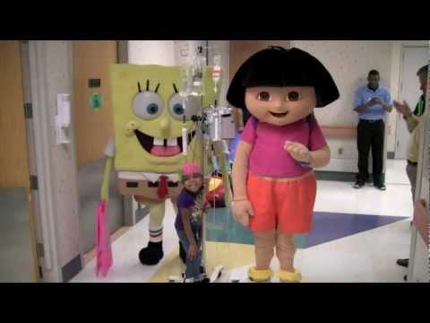 SpongeBob SquarePants and Dora the Explorer Visit Batson Children s Hospital