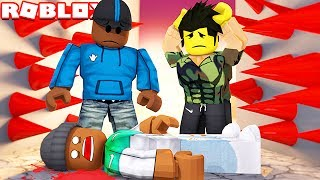 SURVIVE THE PLATES OF DOOM IN ROBLOX!