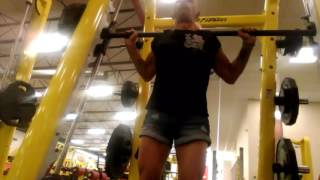 Squatting 270, with Heidi Fox