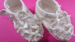 how to make crochet baby shoes No 1