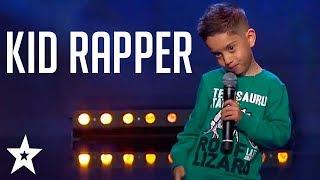 Kid RAPPER Gets GOLDEN BUZZER on Sweden's Got Talent | Got Talent Global