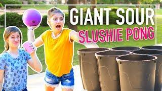 Extreme Giant SUPER SOUR SLUSHIE PONG Challenge
