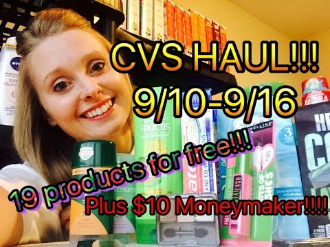 CVS HAUL 9/10/17-9/16/17 CVS WASTED!!! $10 MONEYMAKER!!!!
