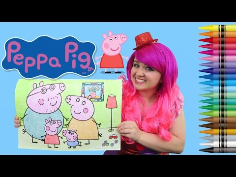 Xxx Mp4 Coloring Peppa Pig JUMBO Coloring Page Crayola Crayons COLORING WITH KiMMi THE CLOWN 3gp Sex