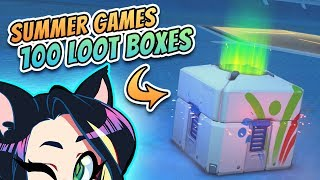 ► Overwatch SUMMER GAMES ► 100 LOOTBOX OPENING (w/ Arin and Barry!) ► Kitty Kat Gaming