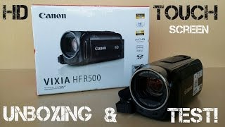 Canon VIXIA HF R500 HD Camcorder Touch Screen - Unboxing!