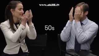 Makyajla yaşlandırılan sevgililerin ilk tepkileri