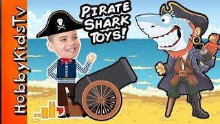World's Biggest PIRATE SHARK Egg! Surprise Pool Family Fun Imaginext Fisher Price Toys HobbyKidsTV