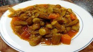 طريقة عمل البامية باللحم الضانى مع البهارات وصفات من المطبخ المصرى