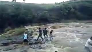 Disastrous Accident People Fallen from Waterfall Caught on Camera